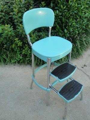 kitchen step area rugs chrome stool ideas on foter vtg 1950s pastel turquoise cosco retro