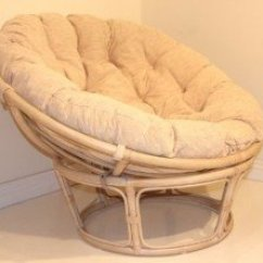 Round Wicker Chair Vintage Lawn Chairs White Ideas On Foter Handmade Rattan Papasan With Cushion Wash