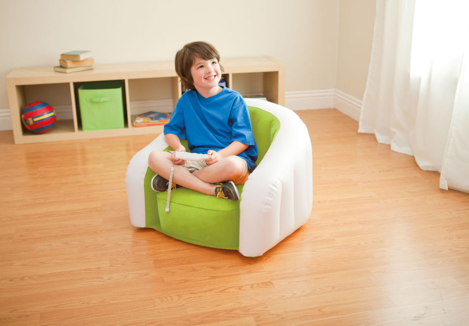 intex inflatable chair and ottoman comfortable sitting chairs furniture - foter