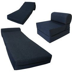 Sleeper Chair Folding Foam Bed Full Size Cover Rentals Dallas Texas Futon Chairs Ideas On Foter 6 Thick X 36 Wide 70 Long Twin Navy