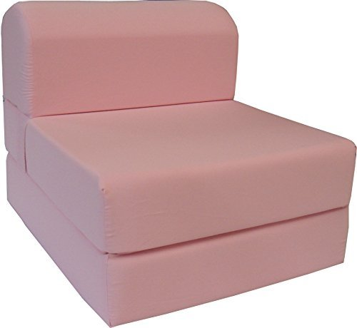 folding chair bed how much does a gaming weight sleeper chairs ideas on foter 6 thick x 36 wide 70 long twin size pink