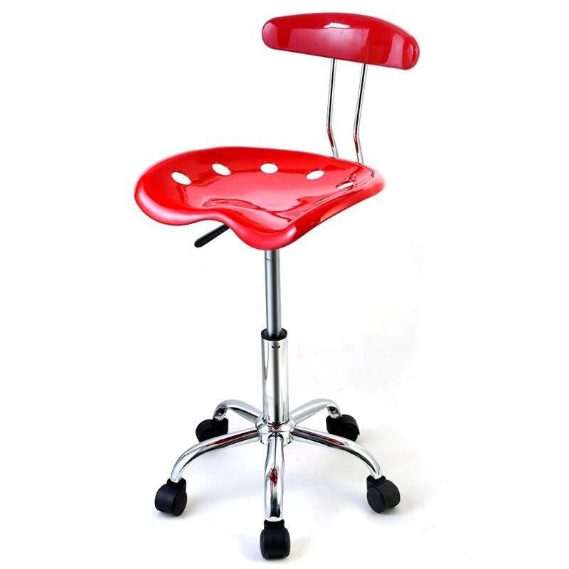 revolving chair for kitchen outdoor kids stools with wheels ideas on foter giantex abs tractor seat adjustable bar swivel chrome breakfast red