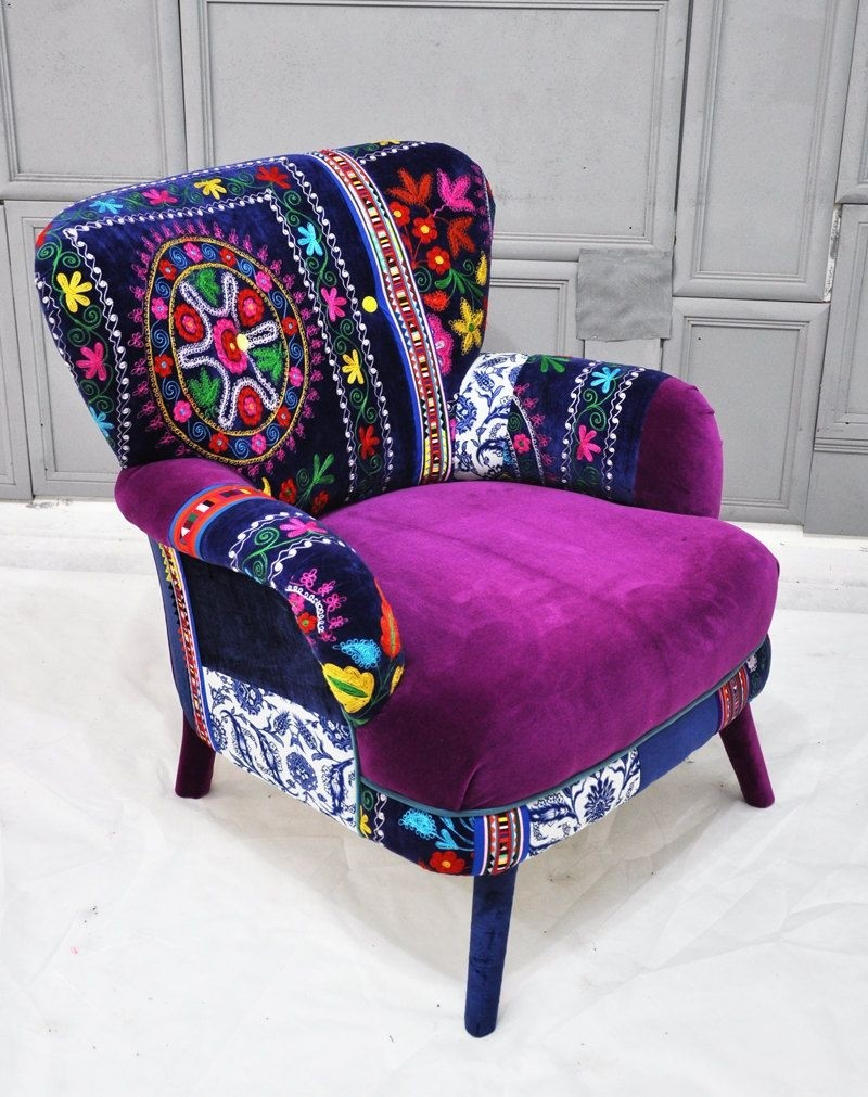 tub fabric accent chair patchwork queen ann armchairs ideas on foter