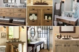 Rustic Bath Vanity Ideas On Foter