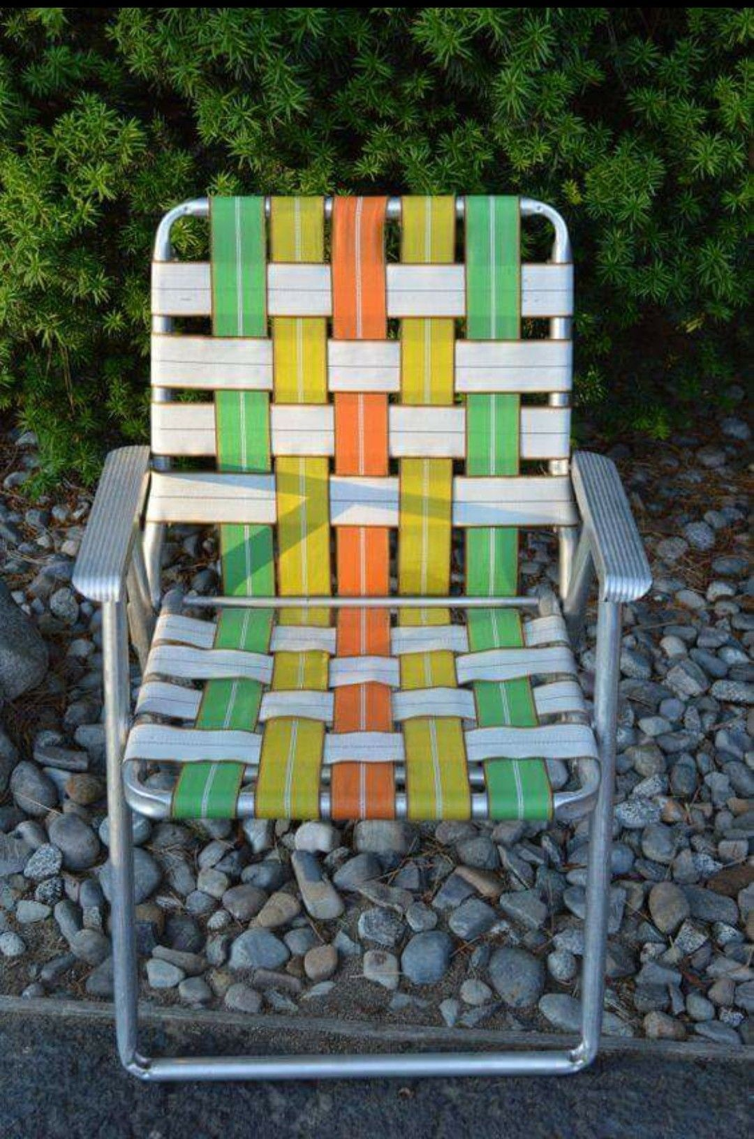 webbed folding lawn chairs big man reclining aluminum ideas on foter vintage chair