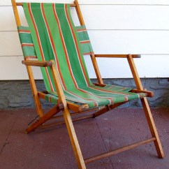 Antique Beach Chair Algoma C Frame Hanging Stand Folding Wooden Chairs Ideas On Foter Vintage Wood And Canvas