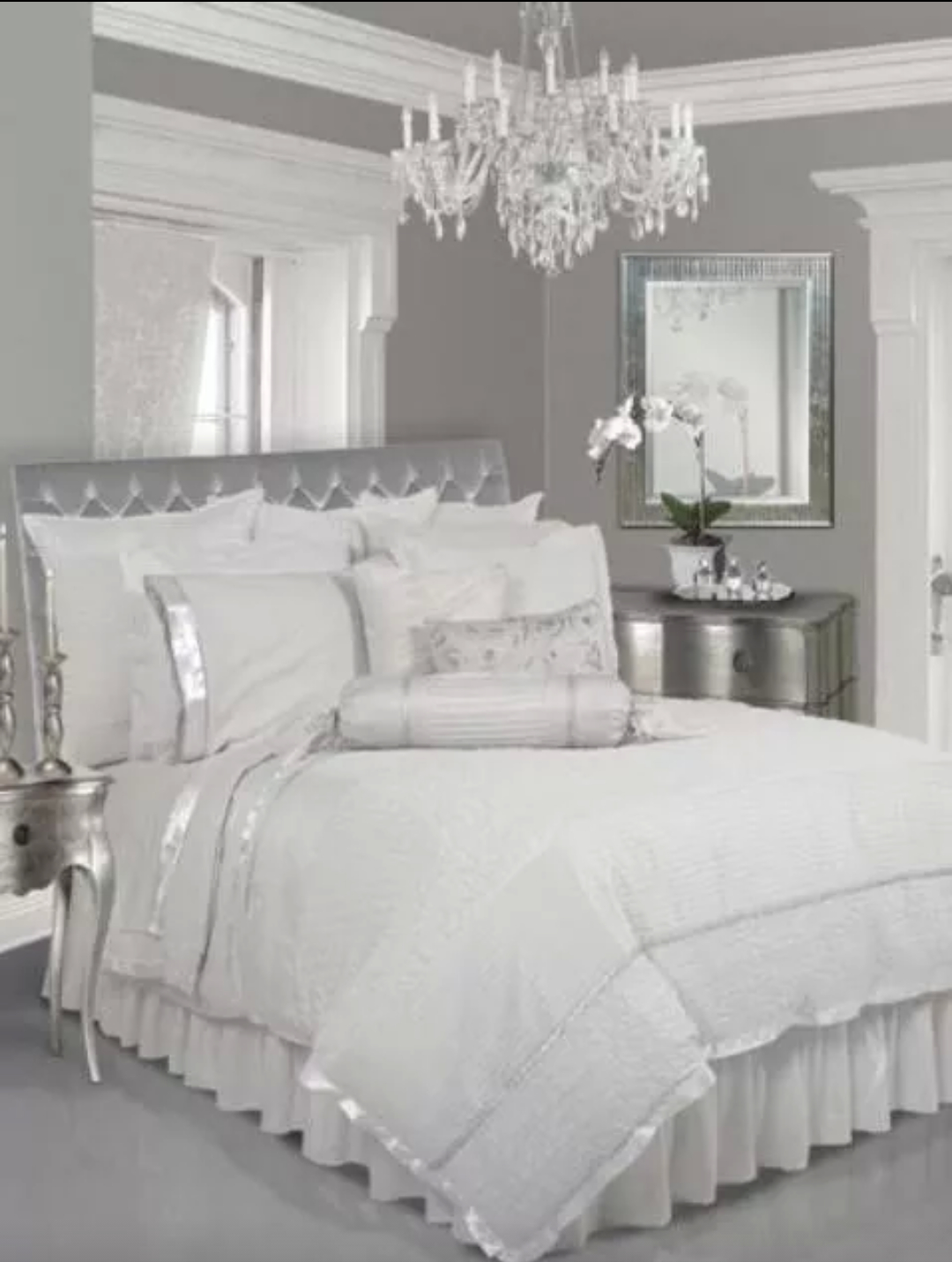 silver bedroom furniture ideas