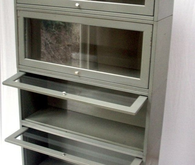 Vintage Bookcase Metal Lawyers Barrister