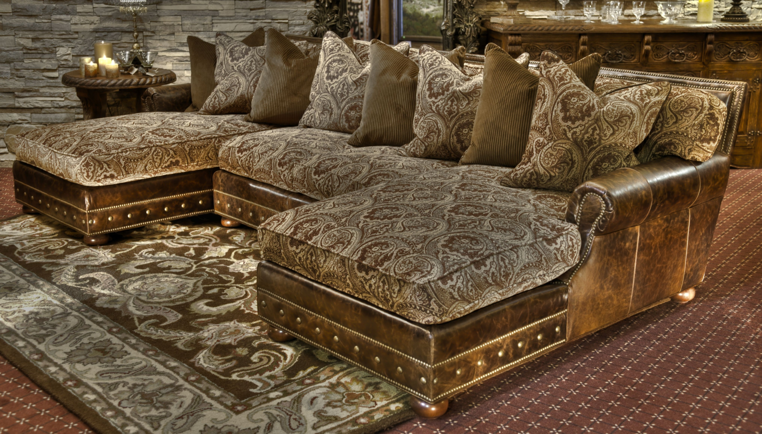 Old World Sofas Old World Schnadig Living Leather Sofa And