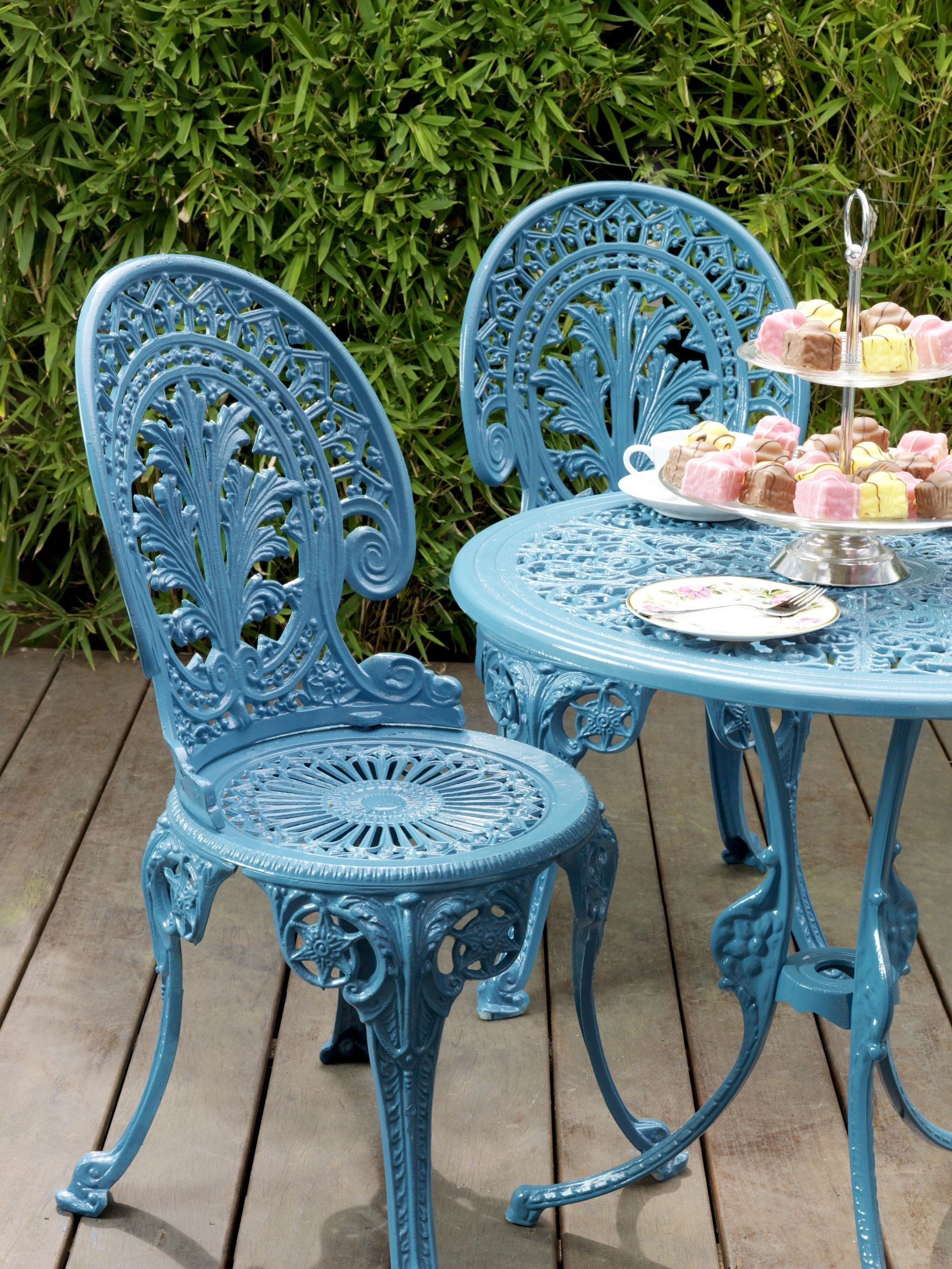 outdoor high table and chair set gerrit rietveld crate plans cast iron patio furniture sets - foter