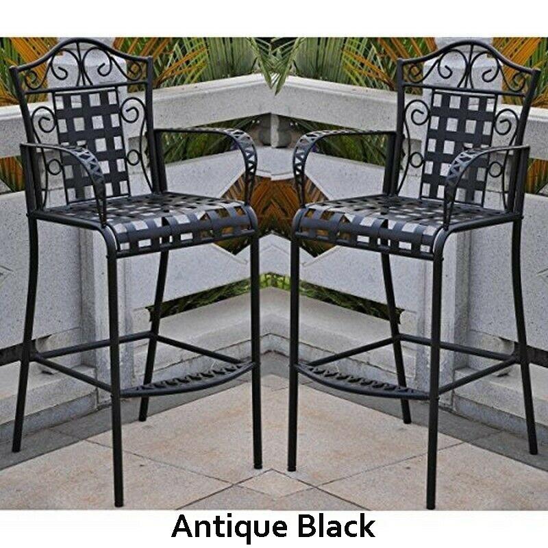 wrought iron outdoor bar stools ideas
