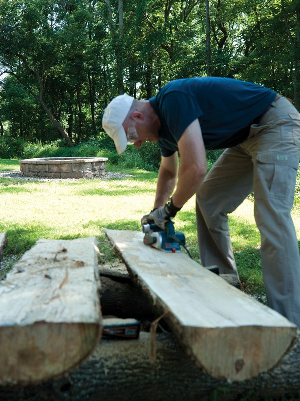 log benches ideas on
