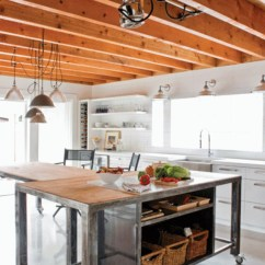 Metal Kitchen Island Cherry Table Islands On Casters Ideas Foter Wheels For