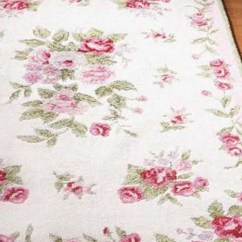 Pink Kitchen Rug Hand Painted Backsplash Tiles Rugs Ideas On Foter The Charming Floral Motif Subtle White And Green Colors Fabric Softness Make This Captivates Whole Will Be Tested In Many