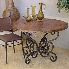 Kitchen Table Base Tuscan Curtains Valances Wrought Iron Tables Ideas On Foter Wood For Glass Top