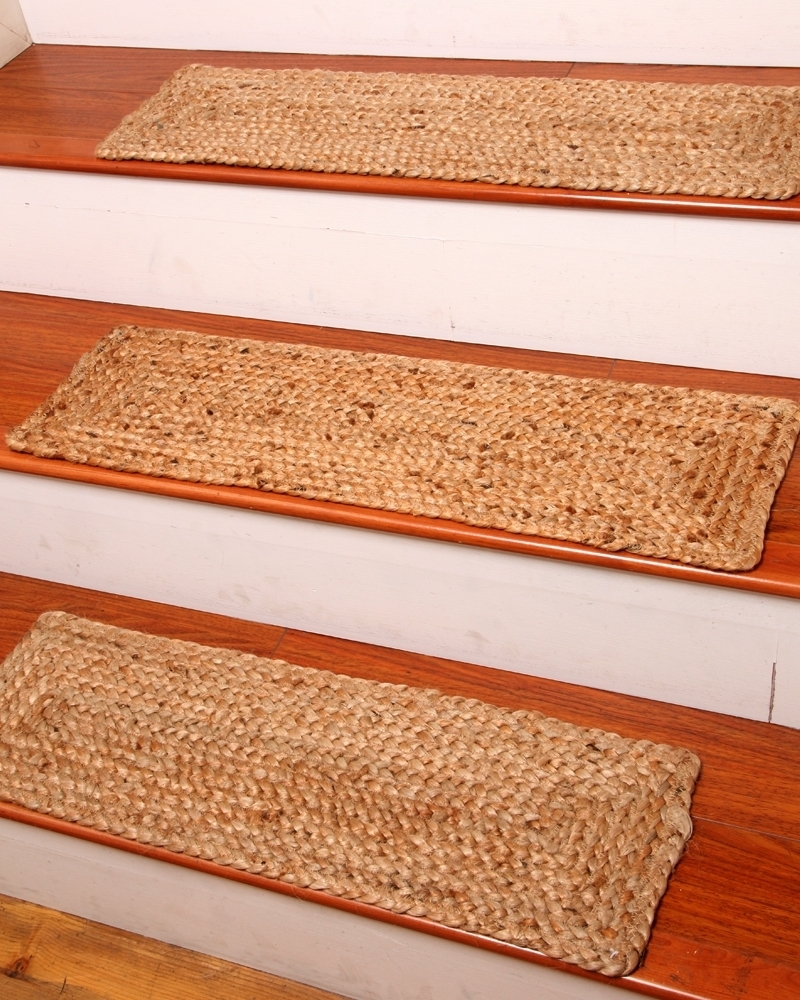 Jute Stair Treads Ideas On Foter | Single Carpet Stair Treads | Stair Runner | Adhesive Padding | Wood | Sisal Stair | Non Slip