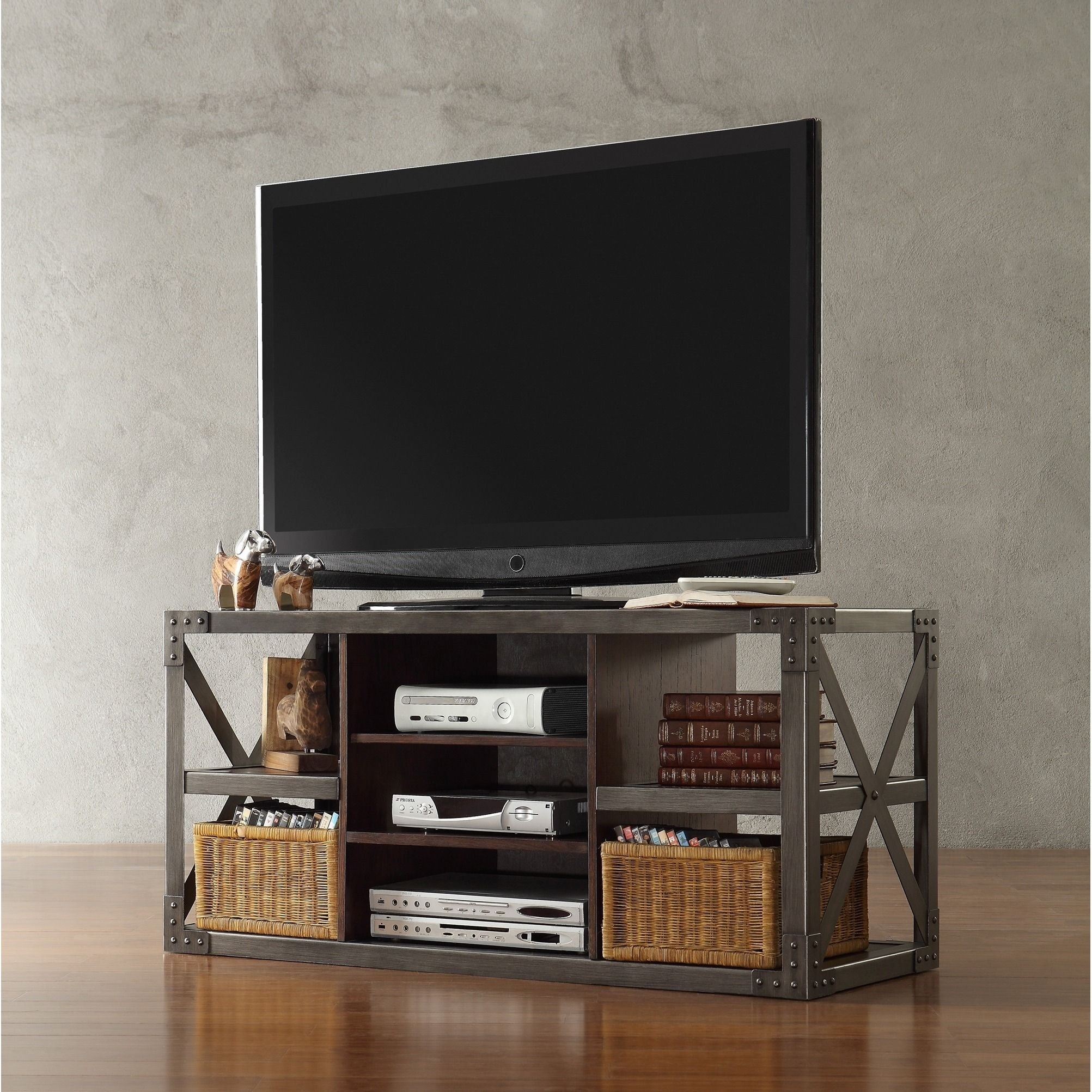 Tv Board Industrial Metal And Wood Tv Stand - Ideas On Foter