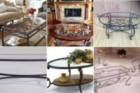 Wrought Iron And Glass Coffee Tables