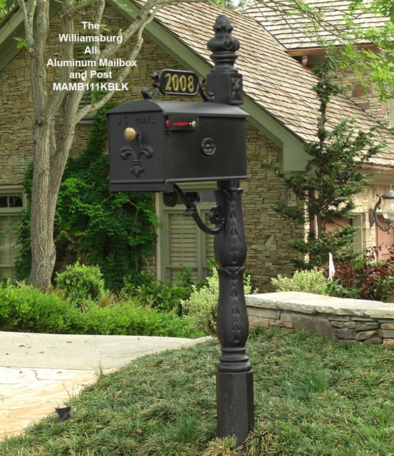 cast aluminum mailbox post - foter
