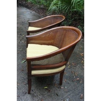 mid century cane barrel chair bamboo folding upholstered back chairs ideas on foter hollywood glam 2