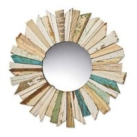 Wood Starburst Mirror - Foter