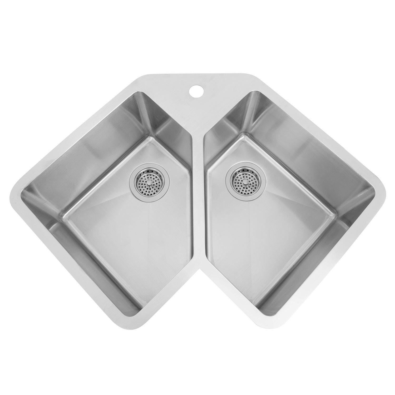 corner kitchen sink small island for sinks undermount ideas on foter