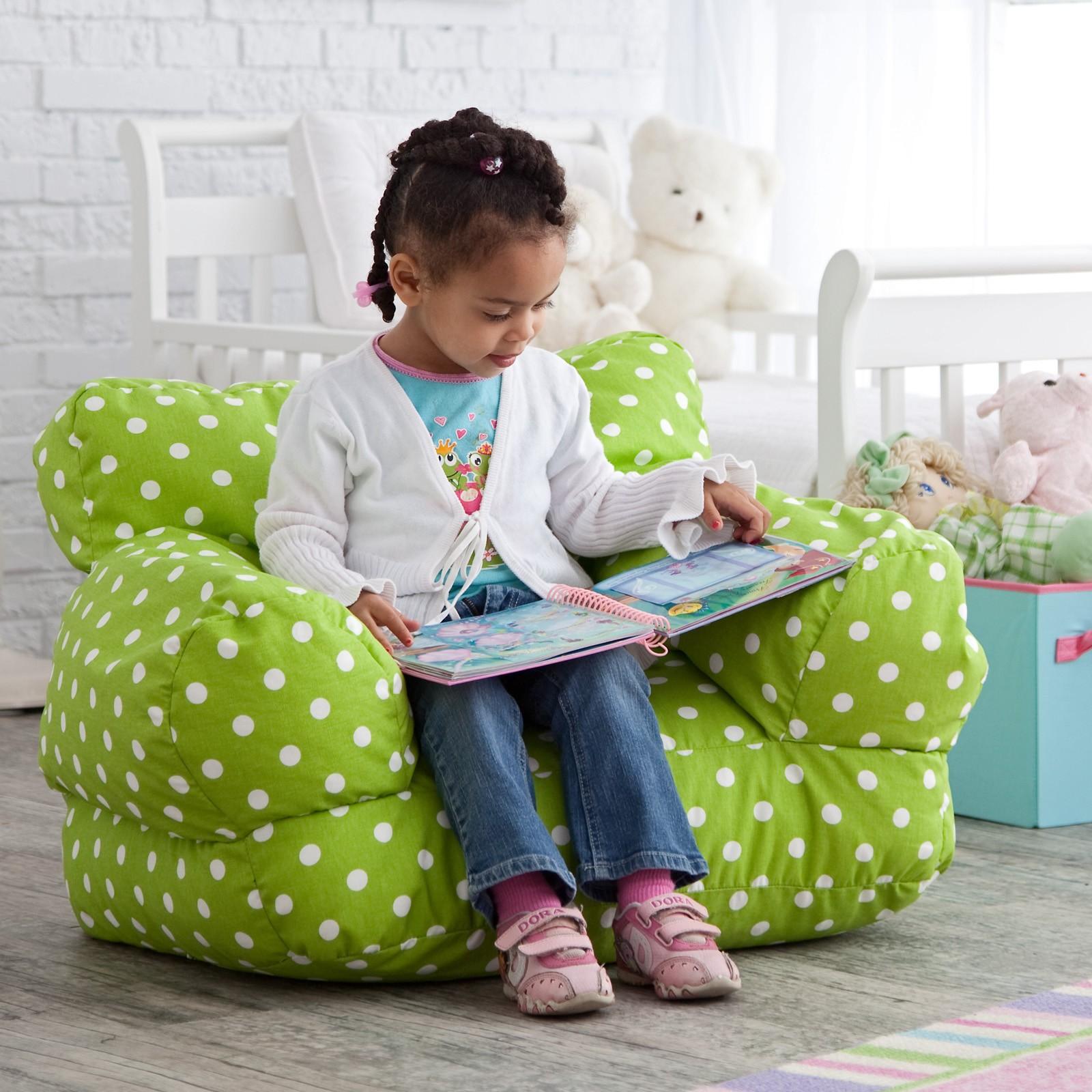 green bean bag chair high floor mat eco friendly chairs ideas on foter twill polka dot mi kids