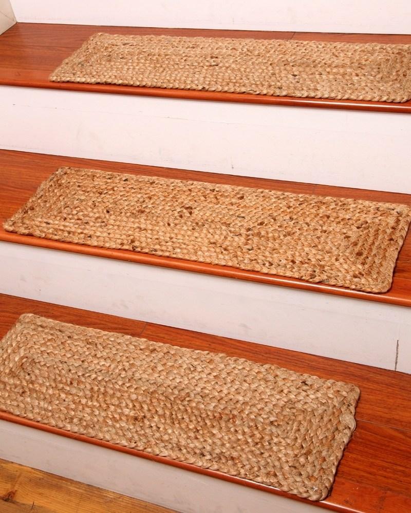 Jute Stair Treads Ideas On Foter   Designer Carpet Stair Treads   Stair Runner   Non Slip   Oak Valley Designs   Flooring   Wood Grain