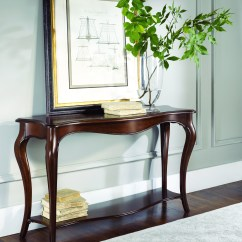 Painted Queen Anne Sofa Table Quilted Microfiber Slipcover Console Ideas On Foter Cherry 1