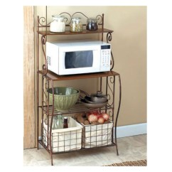 Kitchen Bakers Rack Marietta Remodeling For Microwave Ideas On Foter Storage With Baskets