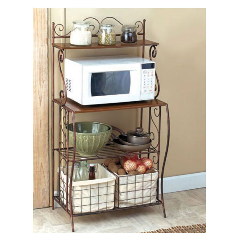 kitchen bakers rack lowes counters for microwave ideas on foter storage with baskets