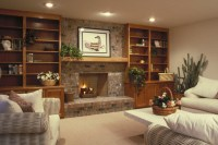 Electric Fireplace With Bookshelves