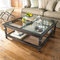 Large Square Glass Coffee Table - Foter