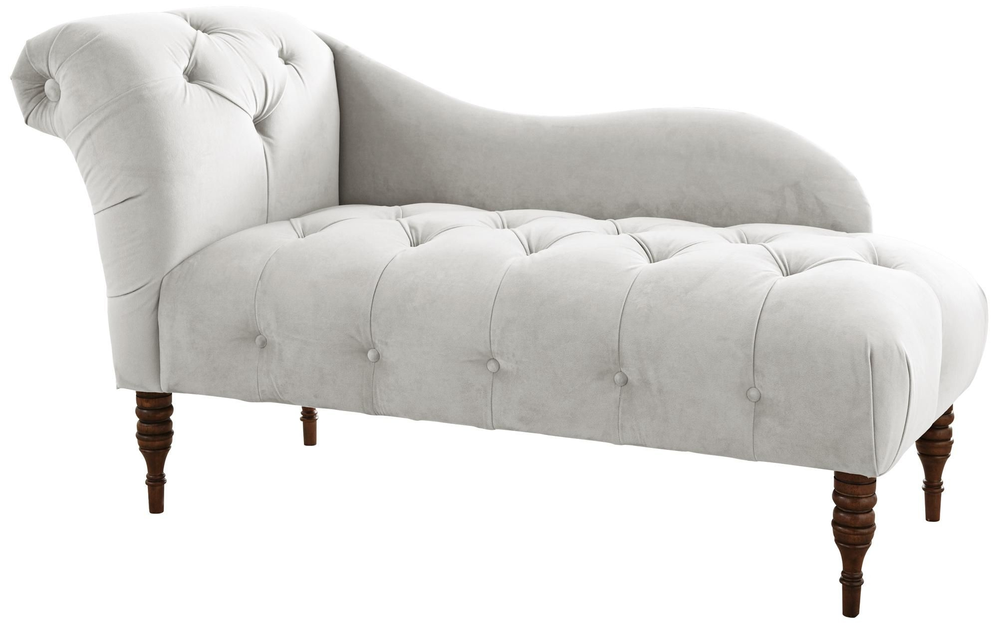 white chaise chair baby glider one arm lounge ideas on foter right hand longue