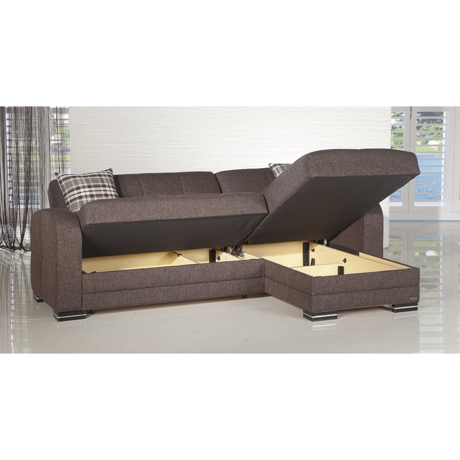 storage sectional sofa bed steam cleaning service ideas on foter 2