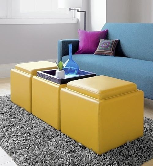 storage ottoman cube with tray ideas