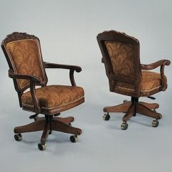 Poker Table Chairs With Casters Big Circle Chair Ideas On Foter Wooden