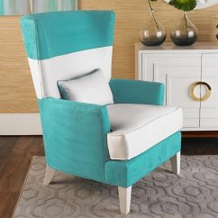 Blue And White Striped Chair Desk Upholstered Accent With Arms Ideas On Foter Black