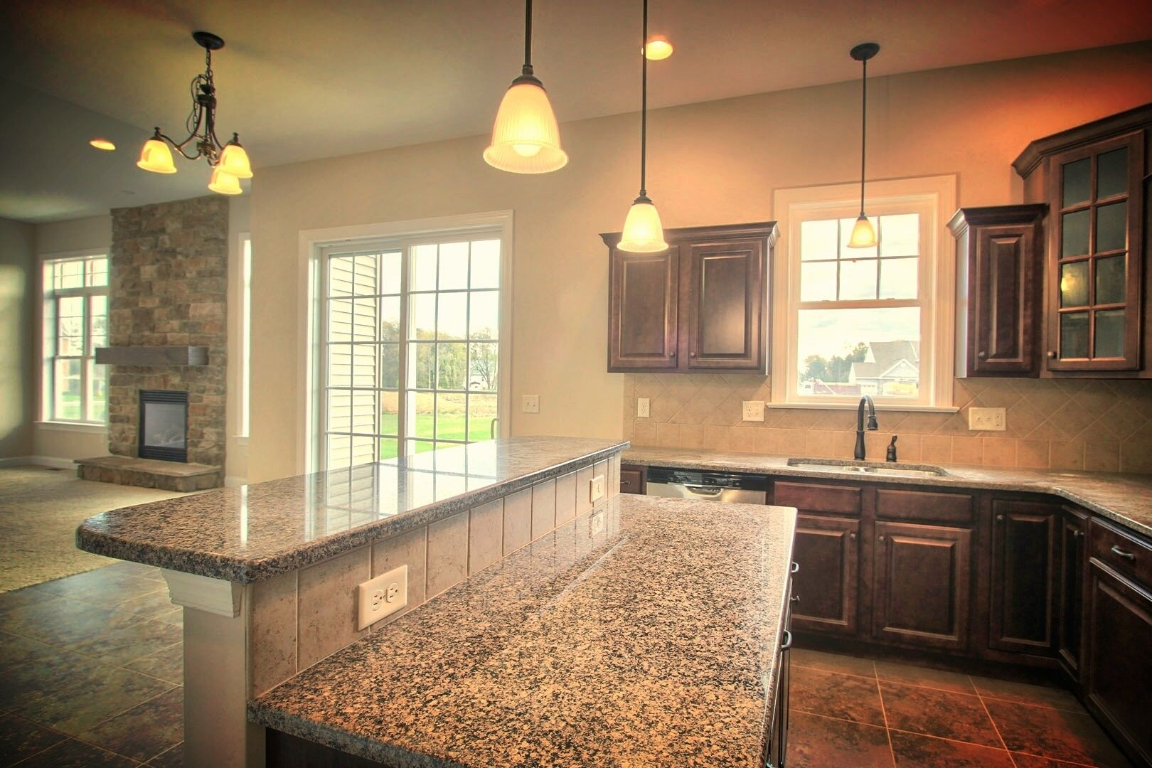 kitchen breakfast bars chandelier over island with granite top and bar ideas on foter design