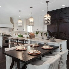 Kitchen Table Island Combo Free Standing Cupboards Drop Leaf Ideas On Foter