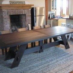 Large Kitchen Table Geeky Gadgets Dining Room Tables Seats 10 Ideas On Foter 1