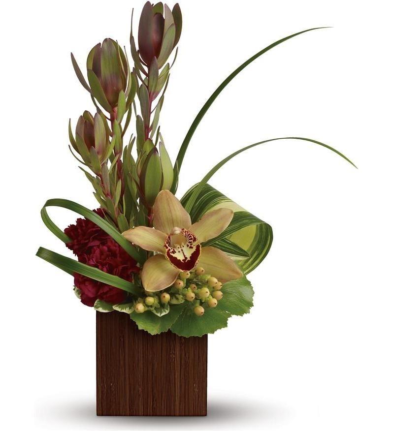 small silk floral arrangements