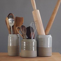 Kitchen Tool Crock Cool Knives Ceramic Utensil Holders Ideas On Foter Holder Sand Stoneware W