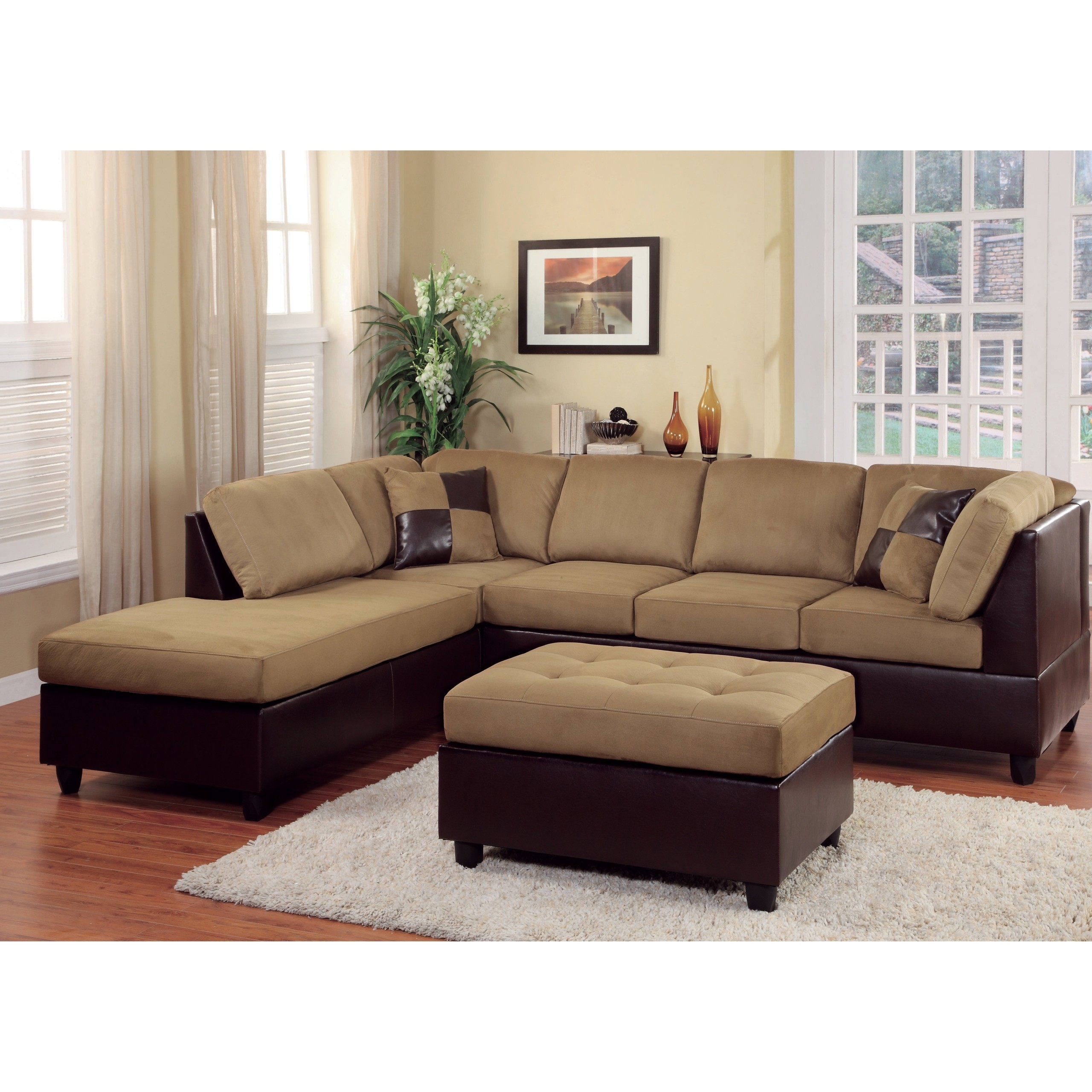 leather or fabric sofa for family room design with wooden handle and sectional sofas ideas on foter in
