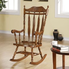 Wooden Rocking Chairs For Adults Indoor Clip On High Chair Ideas Foter Monarch Dark Walnut 45h In Solid Wood
