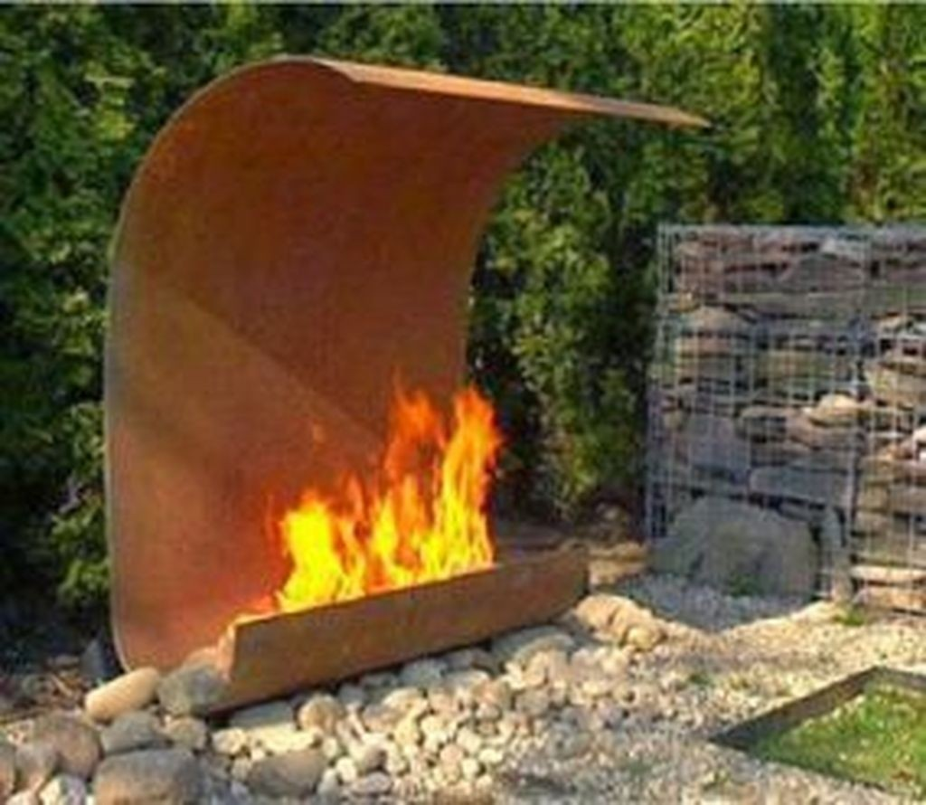 Steel Outdoor Fireplace  Ideas on Foter