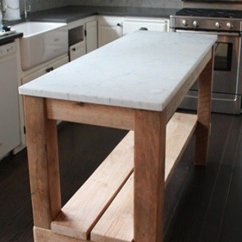 Kitchen Island Marble Top Low Cost Cabinets Cart Ideas On Foter