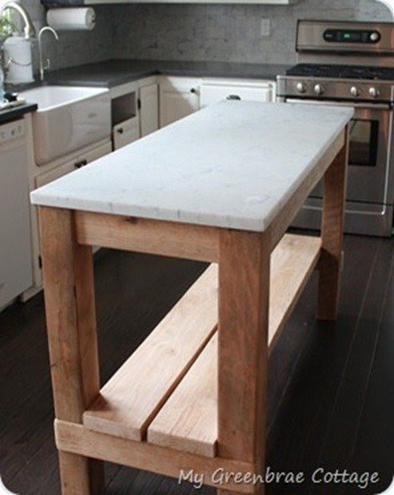 Marble Top Kitchen Island Cart Foter