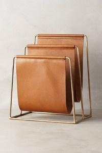 Leather Magazine Rack - Foter