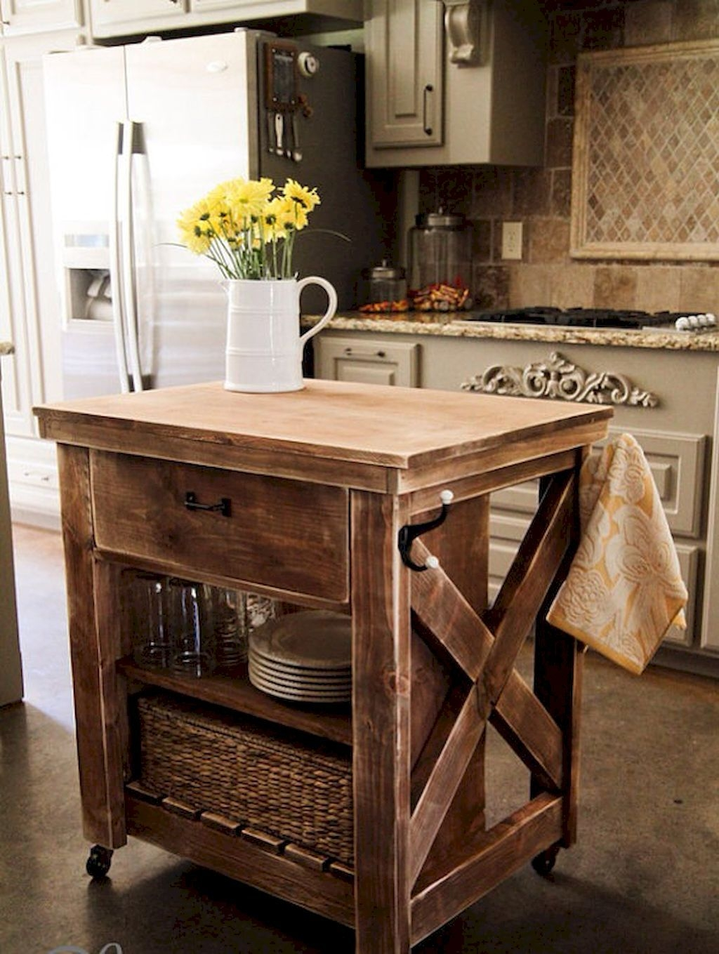 kitchen cart table las vegas hotels with rustic microwave ideas on foter